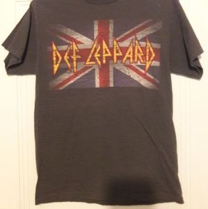 Shirts - Def Leppard novelty Tee - gray